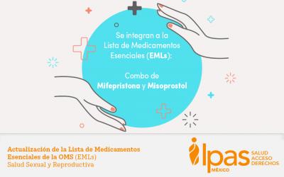 OMS incorpora Misoprostol y Mifepristona a la Lista de Medicamentos Esenciales