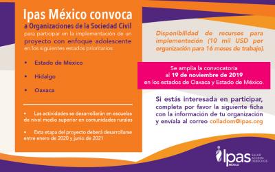 Ipas México Convoca a Organizaciones de la Sociedad Civil